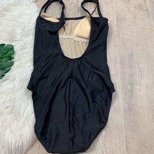 Speedo Swim - Speedo Black Scoop Neck Open Back Swim Suit D1426